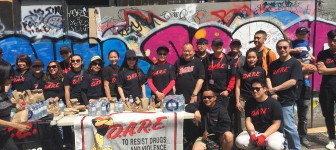 D.A.R.E. BC Sandwich Give out